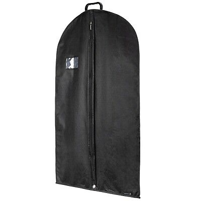 "40"" Black Breathable Suit Carry Garment Clothes Cover Plastic Handle Hangerworld"