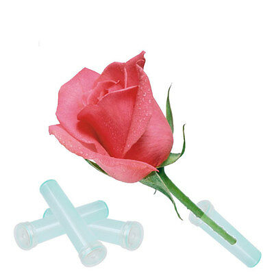 25Pcs Floral Water Tubes Fresh Flower Rose Picks Wedding Party Gifts With Caps