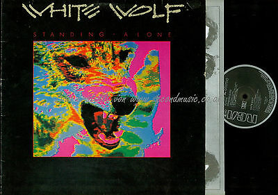Lp--White Wolf Standing Alone /ois