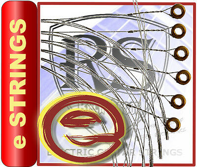 6 x NEW RockSkool e strings  for electric guitar with 12 FREE PICKS plectrums