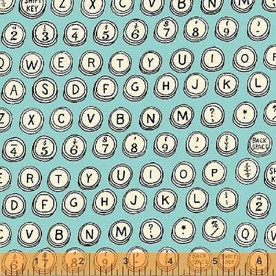1 Fat Qtr Vintage TYPEWRITER KEYS TYPE Letters 35530 Retro Office Windham Fabric