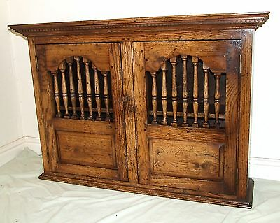 Oak Mural Livery Dole Cupboard Spice Wall Cabinet : Antique 17th Century Style