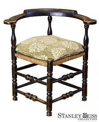 SWC-Rare Painted Maple William & Mary Corner Chair, New England, c.1700