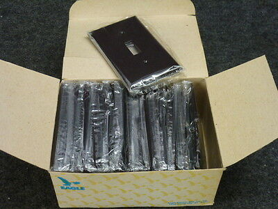 NOS! Lot of (10) EAGLE 2134B - BOX, BROWN, SINGLE TOGGLE BAKELITE WALL PLATE