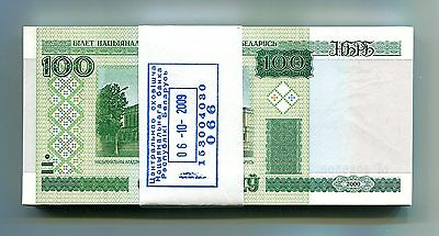 BELARUS 100 RUBLES 2000 (2011) P-26b UNC BUNDLE 100 PCS