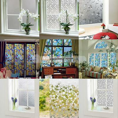 Various Print Static Cling Glass Window Film Sticker Privacy Frosted Waterproof
