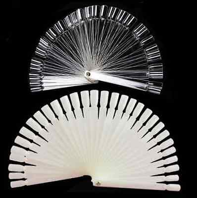 50PCS Beautiful Polish Nail Art Tips Stick False Pop Colour Display Fan Practice