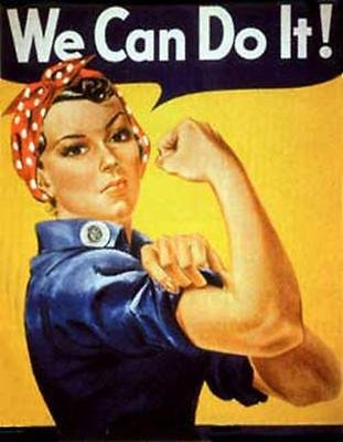 Rosie The Riveter, Working Women Of Wwii, Magnet