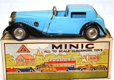 Triang Minic No. 18M Vauxhall Town Coupe - Rare A/mint Boxed