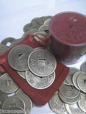 Large Feng Shui Prosperity/Fortune 'Lucky Money' & Candle set attract wealth