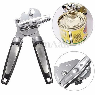 Heavy Duty Stainless Steel Can Tin Bottle Cap Lid Opener Kitchen Easy Grip Tool