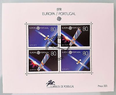 Portugal 1991 Sc # 1860a Europa Eutelsat II Mini Sheet Mint Stamps Collection