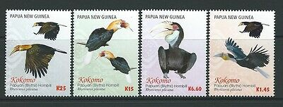 Papua New Guinea 2016 Kokomo Papuan Hornbill Set Of 4 Unmounted Mint, Mnh