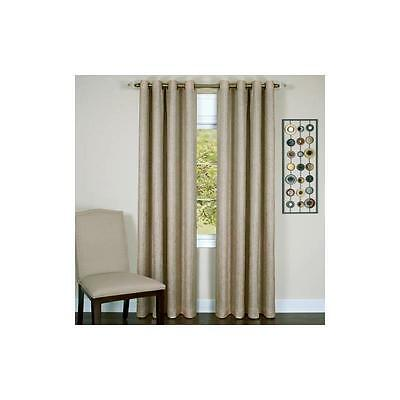 "Achim Taylor Lined Grommet Curtain Panel 50"" X 63"" Tan"