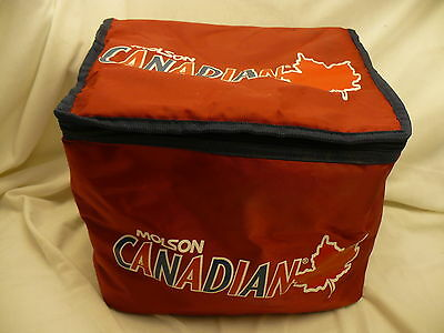 Molson Canadian soft sided beer insulated cooler red large shoulder bag