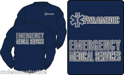 PARAMEDIC - EMERGENCY MEDICAL SERVICES HIGHLY REFLECTIVE Long Sleeve T-Shirt
