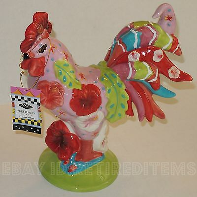 Poultry In Motion CHICKEN & HIBISCUS 16793 Sharon Neuhaus Westland Gift Rooster