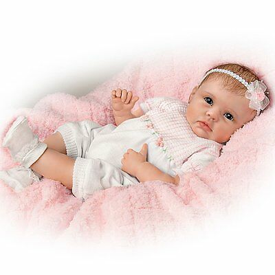 """Precious 22"""" So Real Life Like Pretty In Floral Pink Baby Doll Dolls New"""