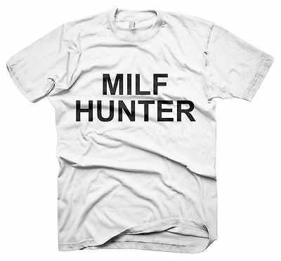 Mens Funny Sayings Slogans tshirts & Tops-Milf Hunter T-Shirt