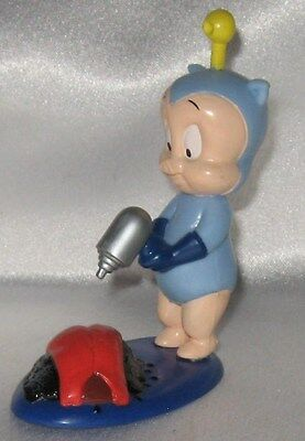 1996 Looney Tunes Porky Pig Figure Alien with Ray Gun Applause
