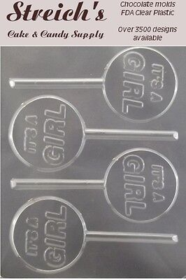 It's a Girl Lollipop Chocolate Candy Mold