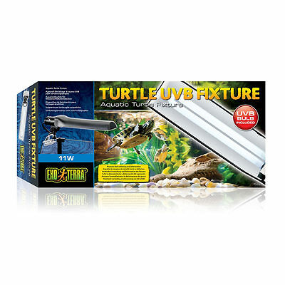 Exo Terra Turtle UVB Lamp & Fixture 11w terrapin fluorescent tube fitting
