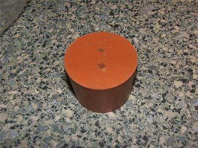 29mm Red Rubber Stopper Bung 2-Hole Laboratory NEW