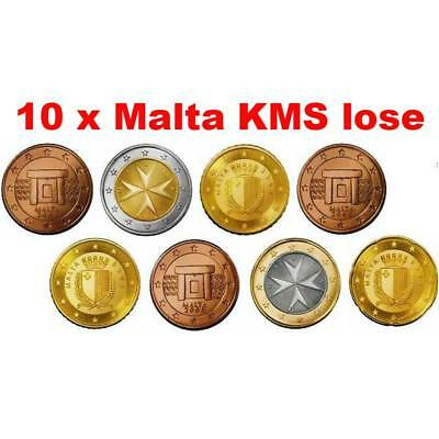 Malta KMS 2008 ST 1 Cent - 2 Euro lose 10x