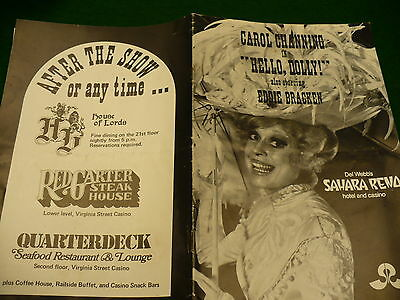 Carol Channing Eddie Bracken Sahara Reno Hello Dolly play bill 1970's #026