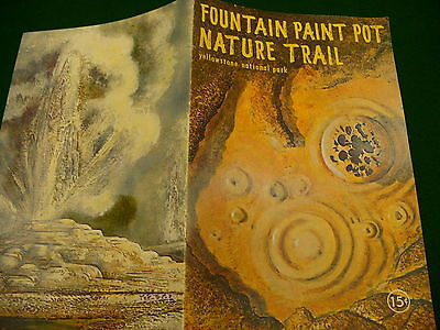 Fountain Paint Pot Nature trail Yellowstone National Park brochure #041