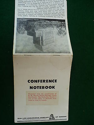 Sun Life Assurance Co Canada conference notebook North Bay Branch 1 of 74 #112