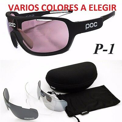 GAFAS CICLISMO 4 LENTES INTERCAMBIABLES BTT MTB // Cycling Glasses Sunglasses /S