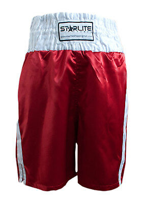 Starlite White-Red Boxing Shorts Sizes Small - Xl