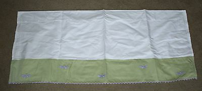 Pottery Barn Kids LILY LAVENDER DRAGONFLY Window VALANCE Excellent!