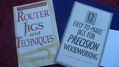 Jigs &  routers techniques Woodworking pamphlets X 2 how to DIY