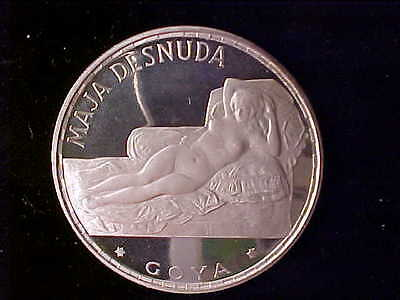 Equatorial Guinea Naked Maja 100 Pesetas 1970 In Red Wallet With Coa Proof