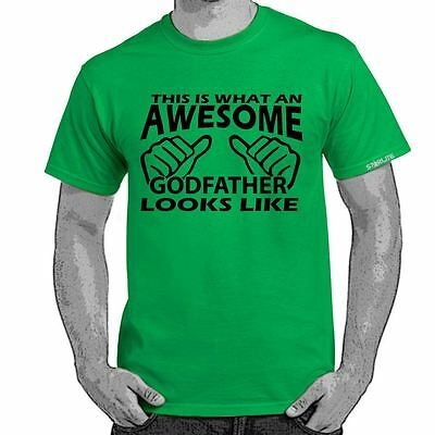 ALM786t-AWESOME GODFATHER LOOKS LIKE T Shirt Mens Printed Funny Slogans tshirts