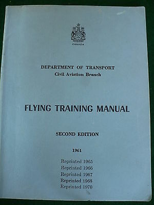 Department transport civil aviation flying training manual airplane 1970 #DB