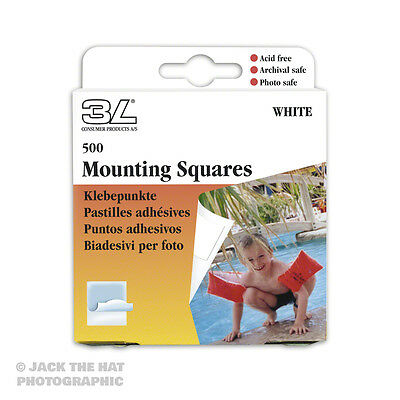 500 x Photo Mounting Squares, Double-Sided Self-Adhesive Acid-Free Archival Safe