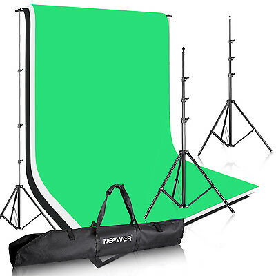 8.5ft X 10ft Background Stand Support System with Non-Woven Backdrop f Portrait