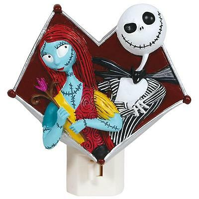 Nightmare Before Christmas Jack Sally Skellington Night Light Wall US Plug 25219