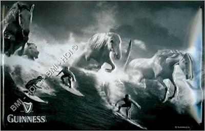 "Guinness White Horses and Surfers on metal sign 12"" x 8"" inch IMMEDIATE SHIPMENT"