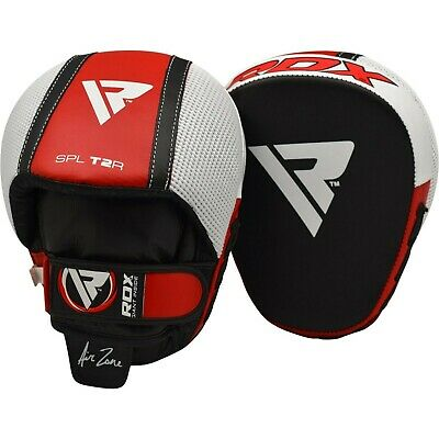 RDX Leather Focus Pads Boxing Mitts Martial Arts MMA Punch Pad Training Gloves