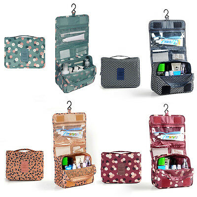 Large Cosmetic Bag Makeup Case Hang Travel Wash Toiletry Organizer Storage Pouch