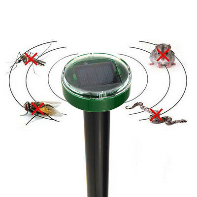 Solar Power Ultrasonic Electronic Anti Mosquito Rat Mice Pest Bug Repeller Kill