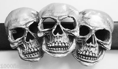Triad Rictus Three Faces Of Death Skull Belt Buckle - Hand Made in Pewter