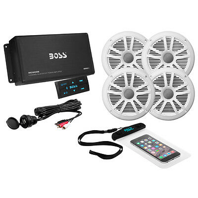 Boss Audio ASK904B.64 4-Channel Bluetooth Amplifier with 4 Speakers
