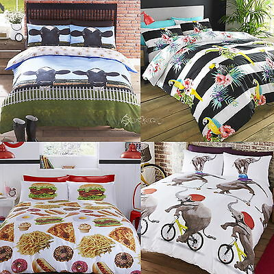 Novelty Animal Design Polycotton Duvet Cover Bed Sets Single Double King