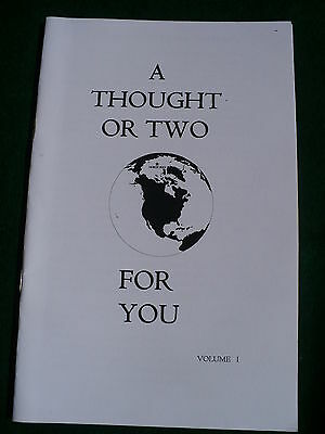 A Thought or two Eastern Star inspirational quotes one liners OES booklet Vol. I
