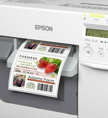RUNDE Folienetiketten  35 mm TRANSPARENT GLOSSY   Epson Colorworks C3400 C3500
